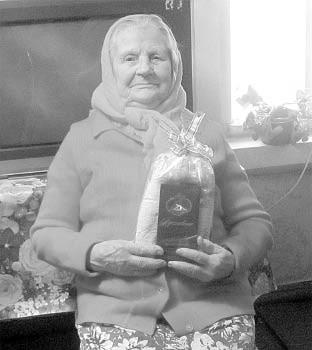 Анна Андреевна Усимова в юбилейный День рождения.
