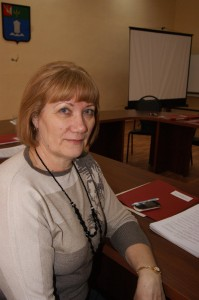 Депутат Представительного собрания района Валентина Сидорова.