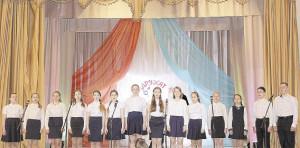 На сцене - хор старших классов Бабушкинской ДМШ.