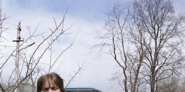 Анна Полуяхтова в своем саду.
