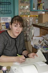 Начальник почтового отделения «Тиманова Гора» Ольга Поповская.