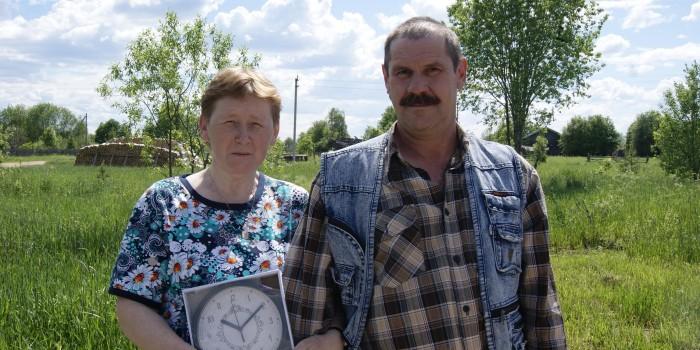 В День деревни в Великом Дворе супруги Папылевы отмечены подарком за длительный семейный союз.