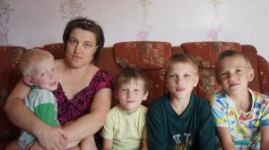 Многодетная семья Москвиных.