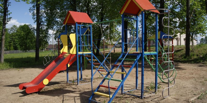 Детская площадка в селе Миньково.