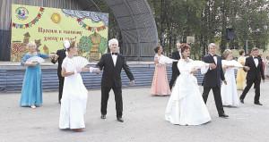 Самые захватывающие моменты встречи - бальные танцы