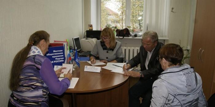На прием к специалисту пришли семь жителей Бабушкинского района.