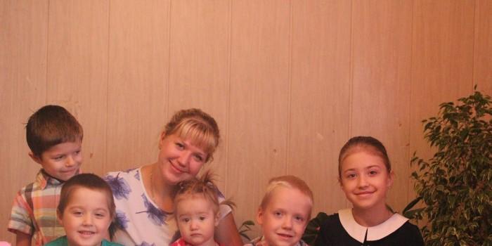 Светлана Манойлова и ее дети.
