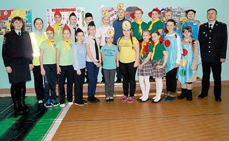 Участники районного слета-конкурса юных инспекторов движения.