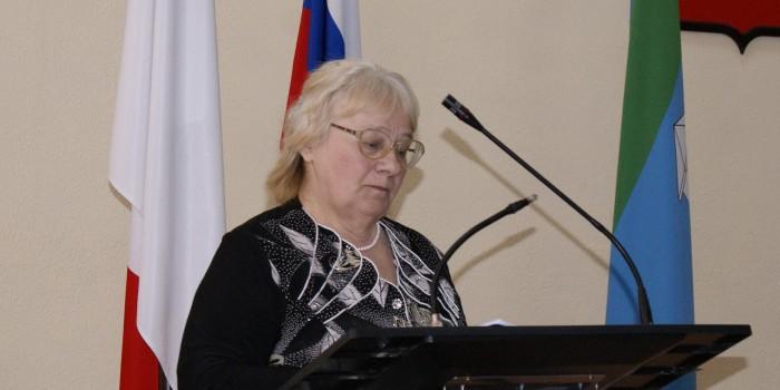 Выступает председатель первичной ветеранской организации Демьяновского Погоста Нина Шишебарова.