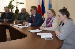 На встрече пчеловодов в зале администрации Бабушкинского района.