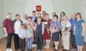 Встречи юбилейных пар в Бабушкинском секторе ЗАГС - добрая традиция.