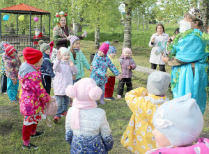 Игровая программа, проведенная сотрудниками Бабушкинской районной библиотеки, очень понравилась ребятам.