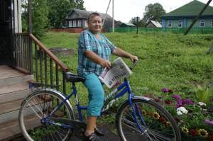 Надежда Оленева любит читать «районку».