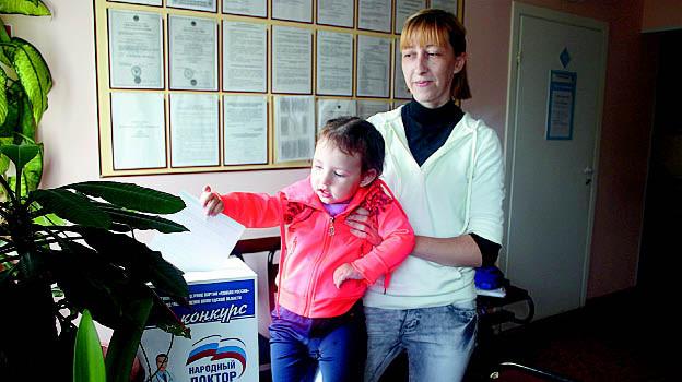 Ирина Шананина с дочерью Миланой уже проголосовали за своего любимого медицинского работника.
