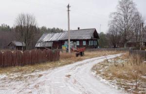 На улицах деревни Душнево.