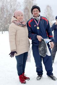 Татьяна Жирохова и победитель VIP-гонки Андрей Шишебаров.