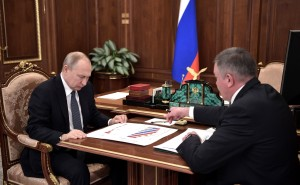 Олег Кувшинников   на встрече с президентом РФ Владимиром Путиным