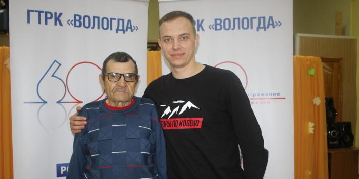 Борис Фендотовский и ведущий ВГТРК Вадим Беляевский