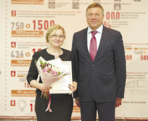 Глава Бабушкинского района Татьяна Жирохова за добросовестный труд в органах местного самоуправления была отмечена благодарностью губернатора области Олега Кувшинникова.