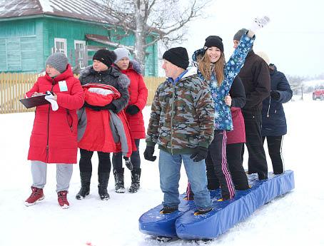 Команда «Позитив» - на этапе «Большие лыжи».