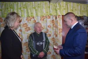 Награду получает Александр  Алексеевич Беляев.