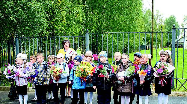 1 «Б» класс Бабушкинской школы с классным руководителем Оксаной Кряталовой.