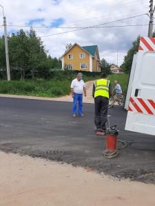 Забор проб на трассе Тотьма-Никольск.